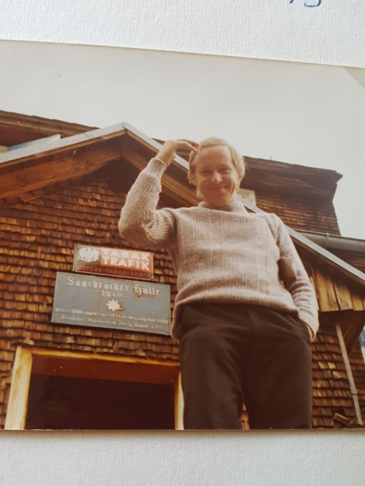 Traugott beim Vereinsauflug in der Silvretta-Gruppe auf der Saarbrücker Hütte